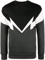Neil Barrett Bolt to bolt embroidered sweatshirt