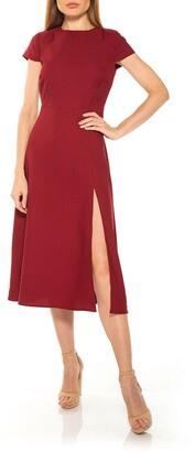 Alexia Admor Lily Crew Neck Midi Dress