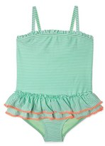 Hula Star Girl's 'Sailor Stripe' One-Piece Swimsuit