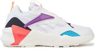 Reebok Neon-trimmed Mesh And Canvas Sneakers