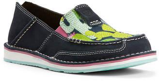 Ariat Women's Loafers - Navy & Green Cactus Cruiser Suede Slip-On Sneaker - Women