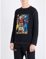 J.w. Anderson Stain Glass-print Cotton-jersey T-shirt