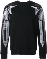 Frankie Morello printed sleeve sweatshirt