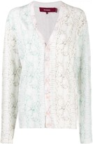 Sies Marjan colour-block animal print cardigan