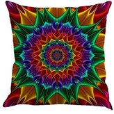 Lanhui Throw Pillow Case with Geometry Painting Linen Cushion Cover For Sofa Home Decor 18x18 (F)