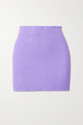 Hunza G + Net Sustain Seersucker Mini Skirt - Lilac