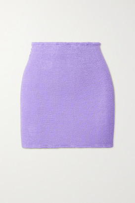 Hunza G Net Sustain Seersucker Mini Skirt