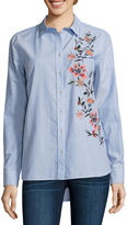 A.N.A a.n.a Embroidered Button Front Shirt