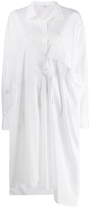 Y's Asymmetric Ruffled Tunic Shirt