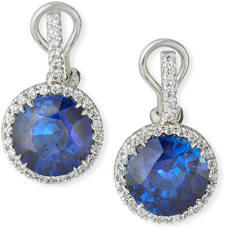 FANTASIA Pave-Set Synthetic Sapphire Drop Earrings