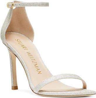 Stuart Weitzman Amelina Glitter Cocktail Stiletto Sandals