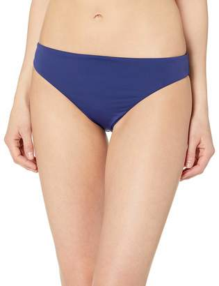 Bikini Lab Junior's Core Solids Cinched Back Hipster Pant Bikini Bottom