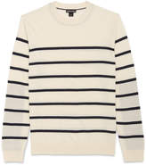Whistles Striped Crew Neck Sweater