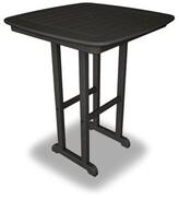 Polywoodâ® Nautical Plastic Bar Table POLYWOODA Color: Black