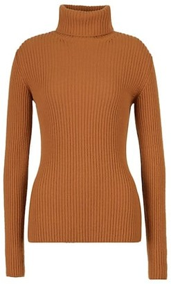 Loro Piana Dolcevita Lincoln Baby Cashmere Ribbed Turtleneck Sweater