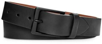 Shinola Square Buckle Leather Belt
