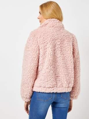 Dorothy Perkins Teddy Jacket - Pink