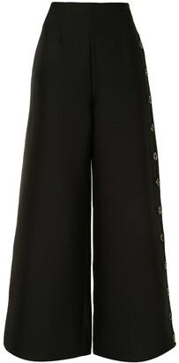 A.W.A.K.E. Mode Slit Detail Wide-Leg Trousers