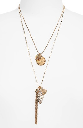 BP Layered Shell & Tassel Necklace
