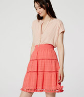 LOFT Petite Tasseled Skirt
