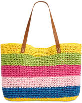 INC International Concepts I.n.c Jordyy Pop Stripe Extra-Large Beach Tote, Created for Macy's
