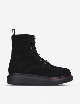 Alexander McQueen Combat leather boots