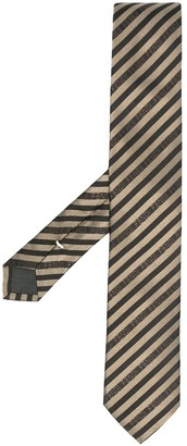 Fendi Diagonal-Stripe Silk Tie