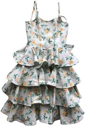 Ungaro Parallele Multicolour Cotton Dress for Women Vintage