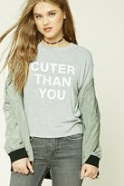 Forever 21 FOREVER 21+ Cuter Than You Graphic Top