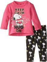Peanuts Baby Girls' 2pc T-Shirt and Legging Set