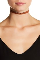 Chan Luu Sterling Silver & Compressed Turquoise Leather Wrap Choker