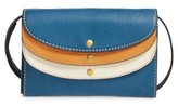 Frye Women's Adeline Leather Crossbody Wallet - Blue