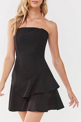 Forever 21 Flounce Hem Mini Dress