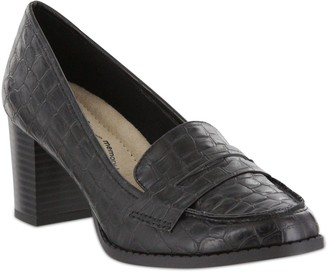 Mia Amore Low Heel Loafer Pumps - Ilsa