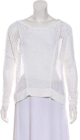 Helmut Lang Knitted Scoop Neck Sweater
