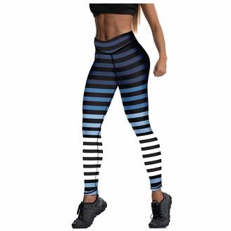 Tuduz Pants Women Yoga Pants TUDUZ Ladies Zebra Print Stretch Leggings Fitness Running Gym Golf Sports Striped Trousers(Multicolor XL)