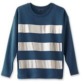 Petit Bateau Women's metallic striped sweatshirt