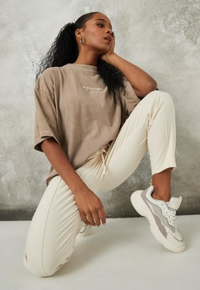 Missguided Sand Washed Oversized T Shirt