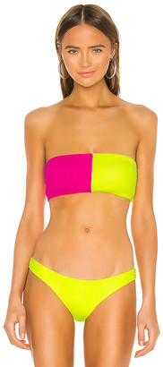 PQ X REVOLVE Color Block Bandeau Bikini Top