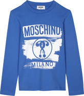 Moschino Logo print long-sleeved cotton top 4-14 years