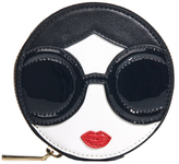 Alice + Olivia Staceface Circular Coin Pouch Keycharm