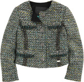 Richmond Jr Dark green and mottled grey jacket with short sleeves