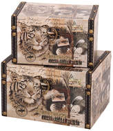 Household Essentials Animal Kingdom 2-pc. Storage Bin