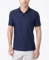 Alfani Men's Textured, Classic-Fit Geometric Performance Polo, Only at Macy's