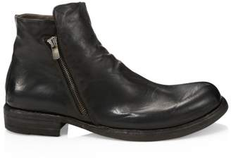 Officine Creative Ikon Leather Side Zip Ankle Boots