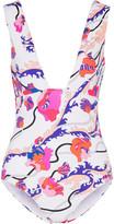 Emilio Pucci Ranuncoli Printed Swimsuit - Pink