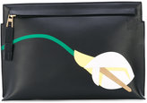Loewe flower 'T' pouch - women - Leather - One Size