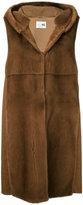 Manzoni 24 - sleeveless hooded fur jacket - women - Mink Fur/Wool - 42