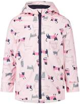 Joules Girls Cat & Dog Print Rubber Coat