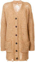 R 13 V-neck cardigan - women - Nylon/Spandex/Elastane/Mohair/Wool - XS